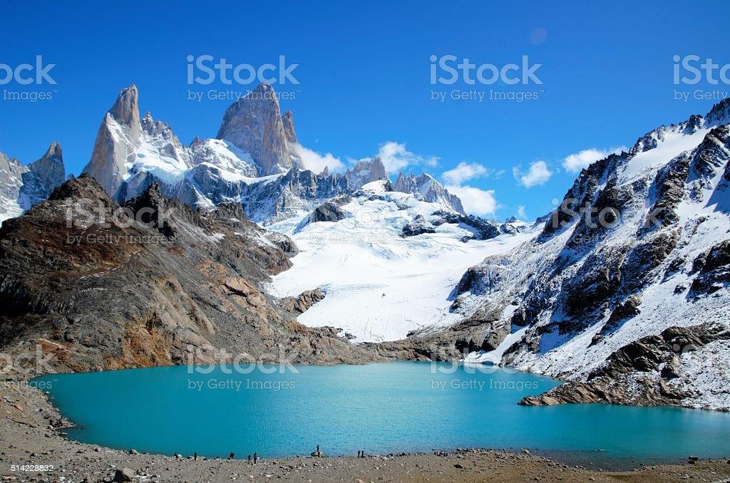 Laguna de los Tres Trek in el Chaltén stock photo