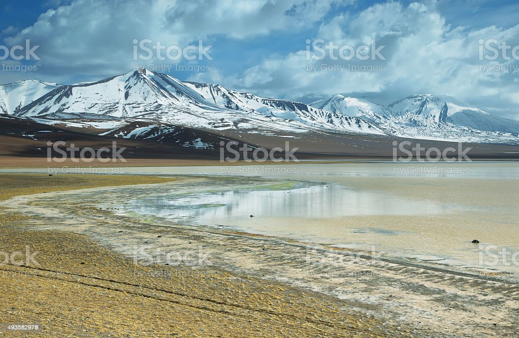 'Laguna lejia' (bleach lake), chile stock photo