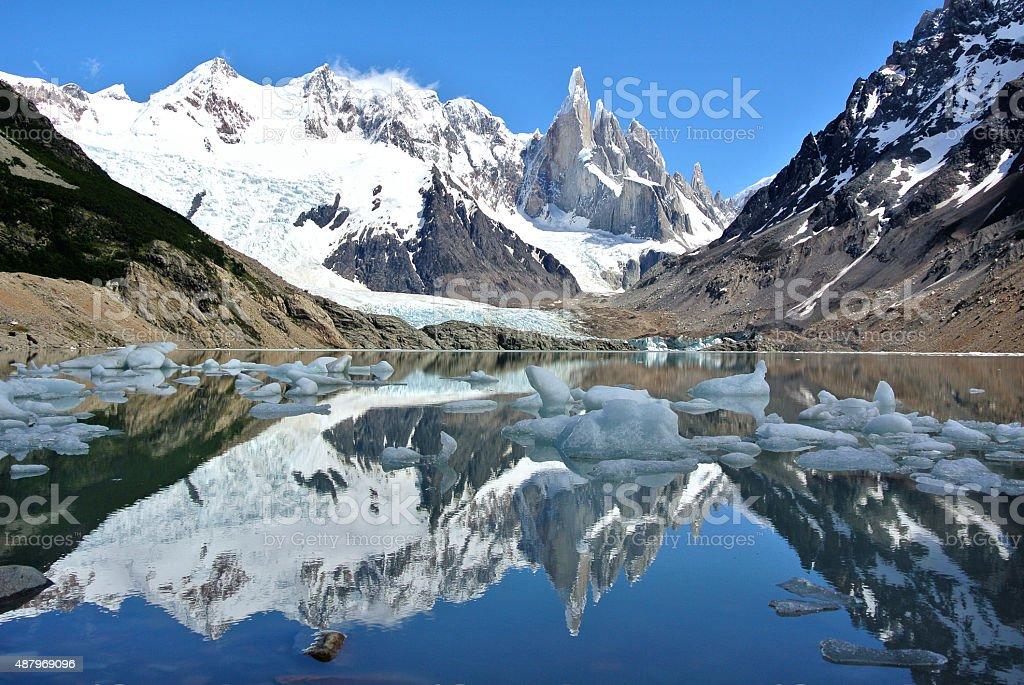 Laguna Torre in Los Glaciares National Park in Patagonia stock photo