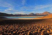Laguna verde, green lagoon in Bolivia
