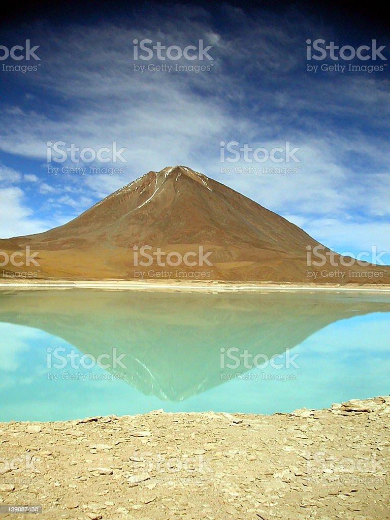 Laguna Verde royalty-free stock photo
