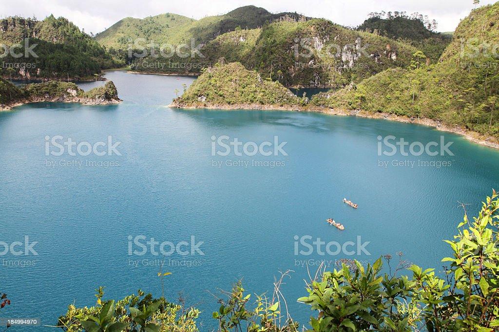 Lagunas de Montebello stock photo
