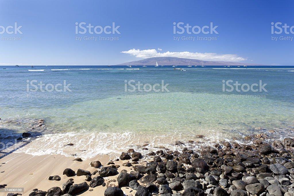 Lahaina Coastline, Maui royalty-free stock photo