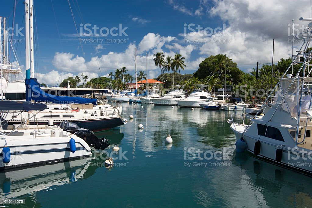 Lahaina Harbor, Maui, Hawaii stock photo