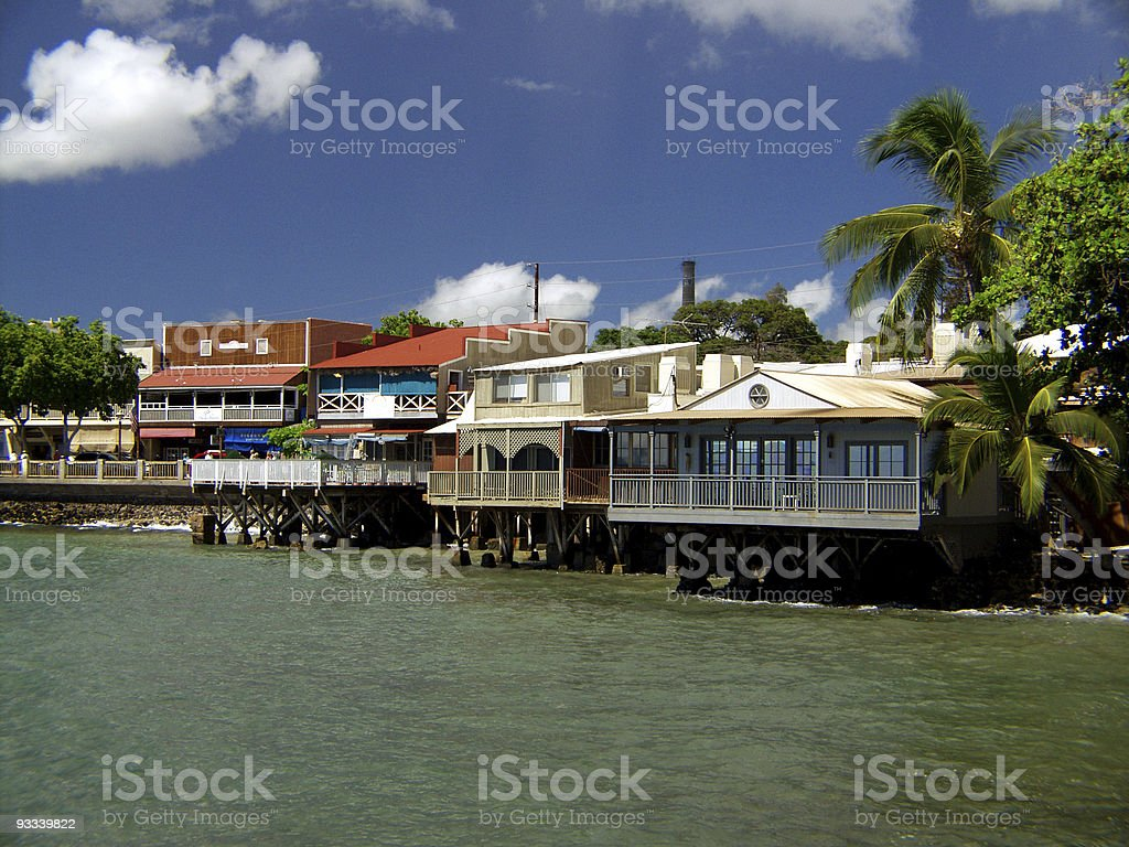 Lahaina, Maui stock photo