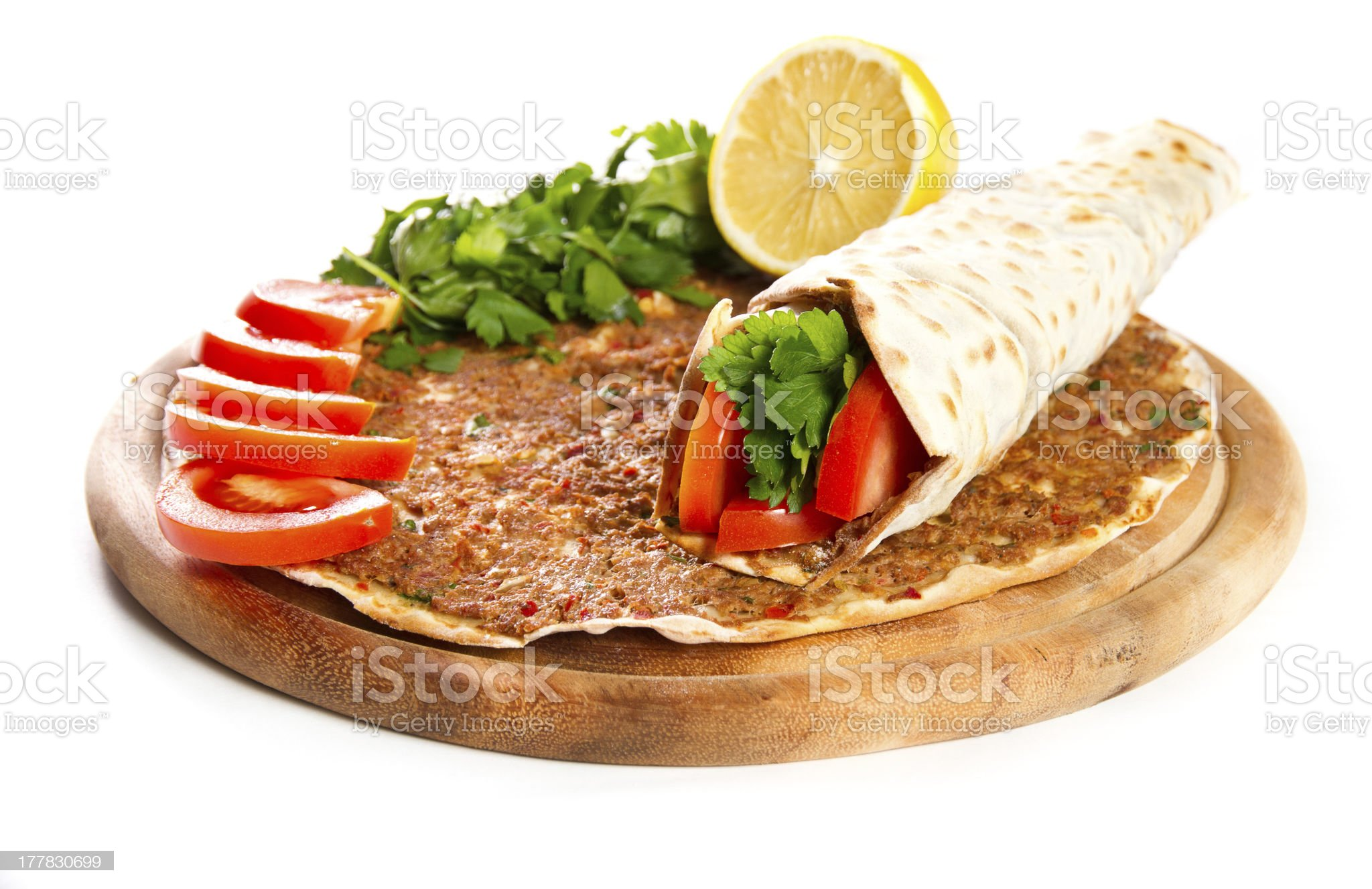 Lahmacun royalty-free stock photo