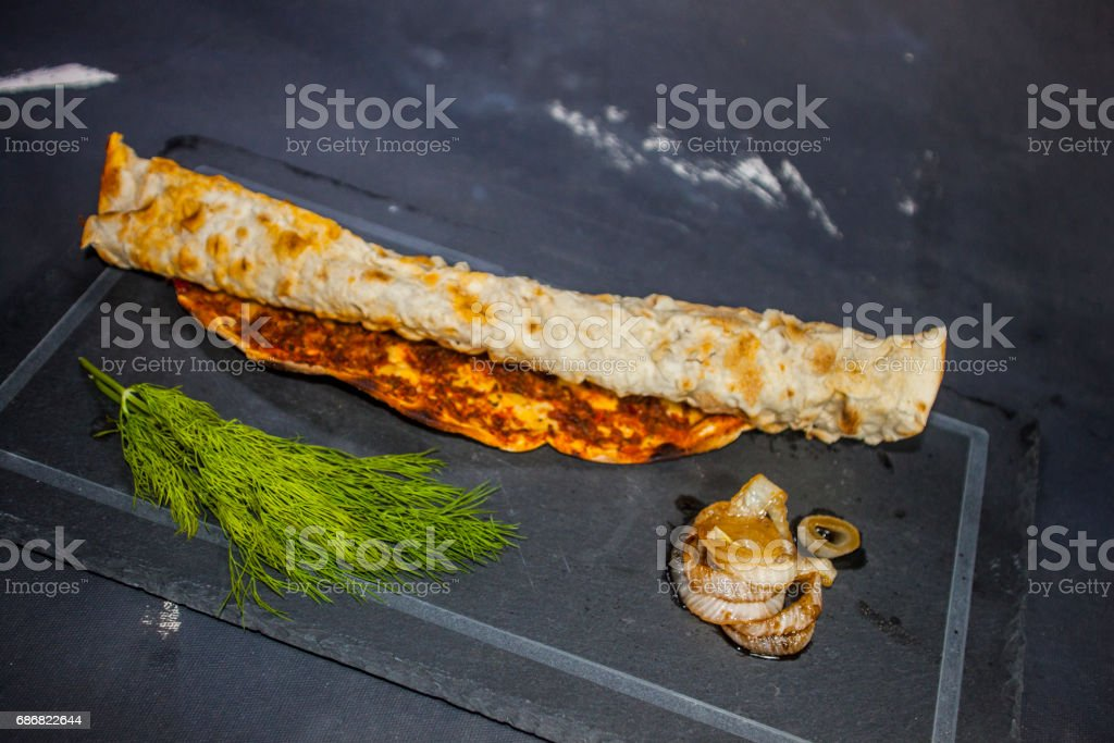 Lahmacun  pide stock photo