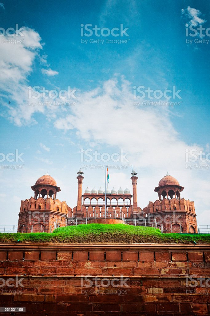 Lahori Gate at the Red Fort in Delhi, India stock photo