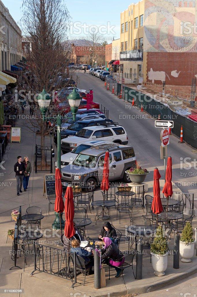 Laid Back Asheville, North Carolina stock photo