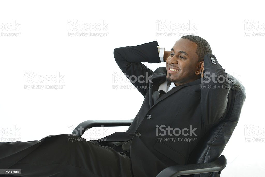 Laid Back Business Man royalty-free stock photo