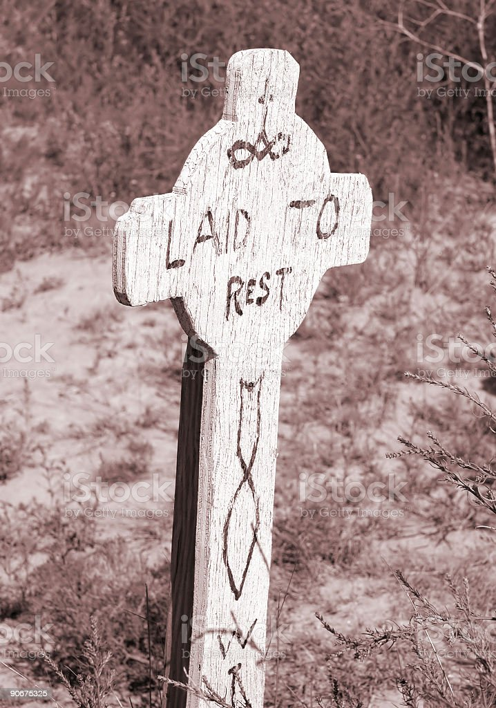 Laid to Rest stock photo