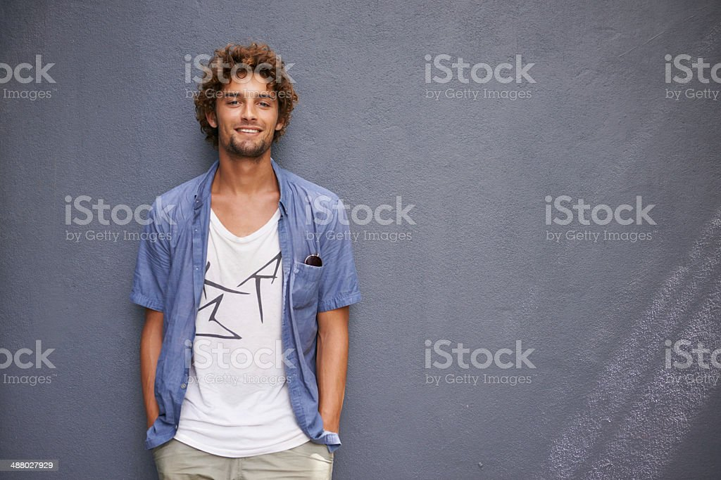 Laid-back and loving life stock photo