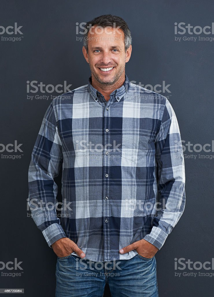 Laid-back look stock photo