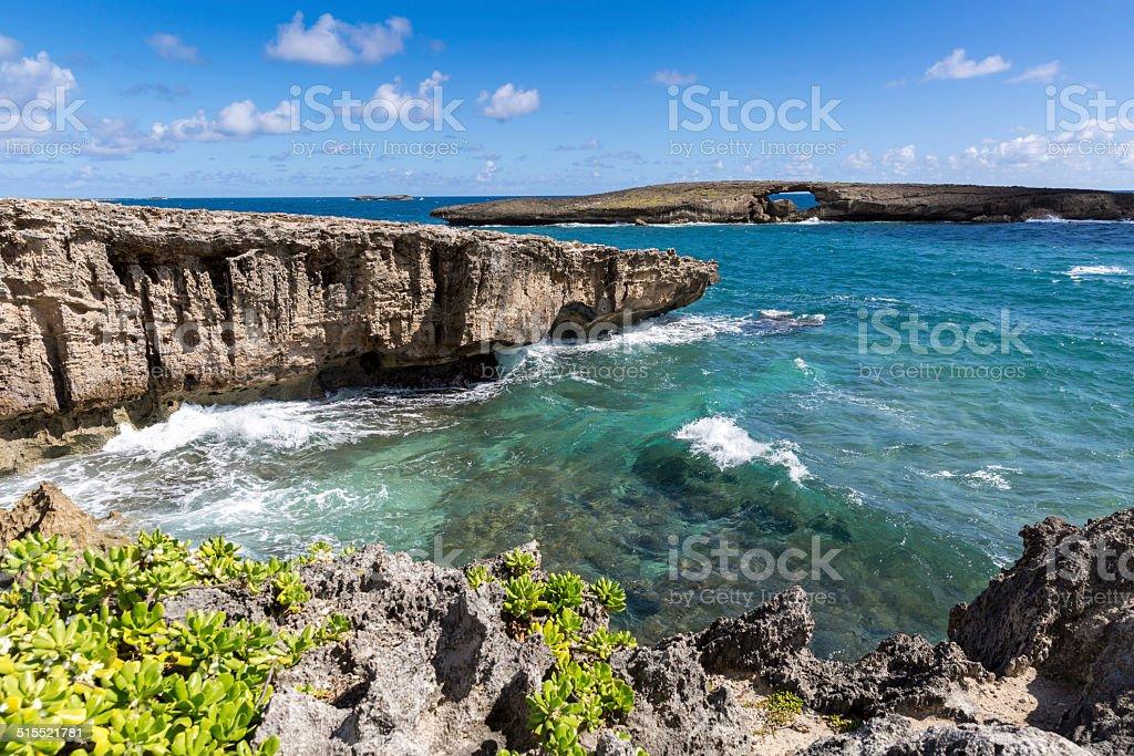 Laie Point Nature Landscape, Oahu, Hawaii stock photo