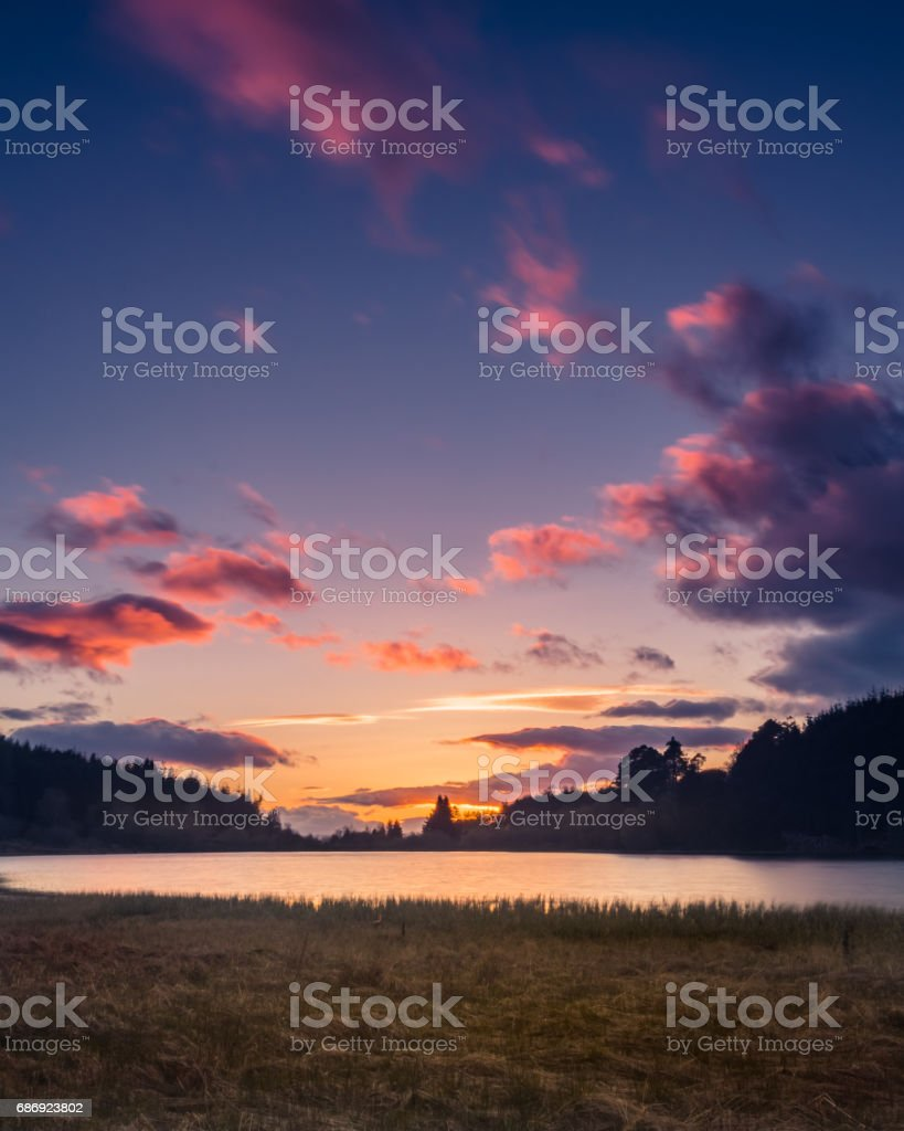 Laird's Loch Sunset stock photo