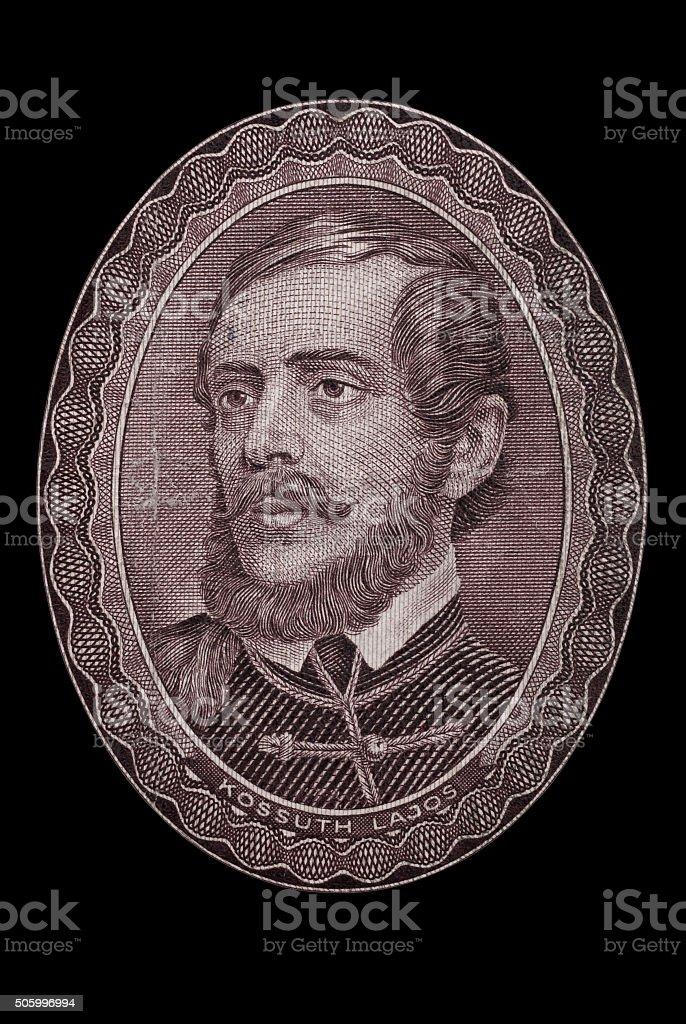 Lajos Kossuth (1802 – 1894). Hungary stock photo