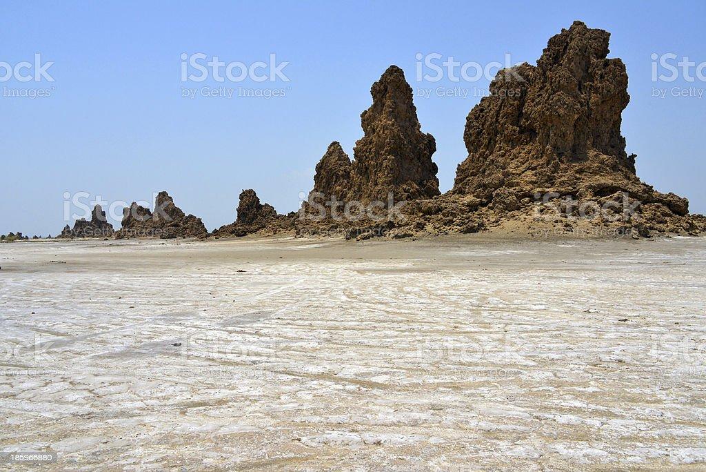 Lake Abbe, Djibouti stock photo