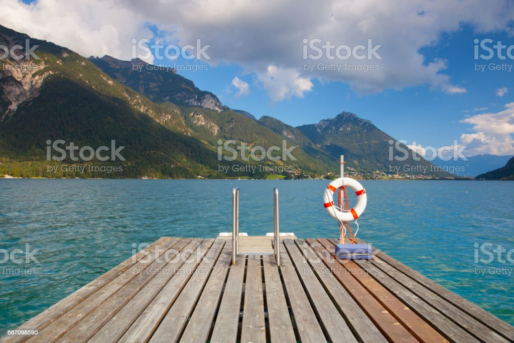 Lake Achen stock photo
