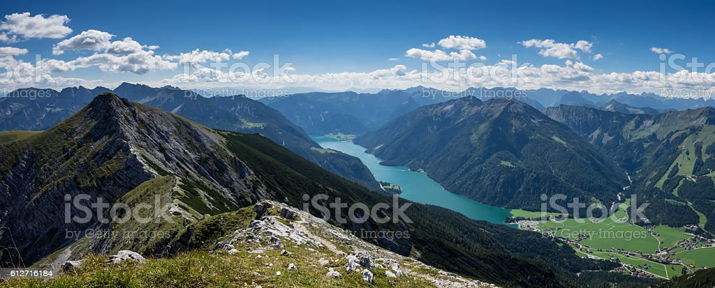 Lake Achensee panorama stock photo