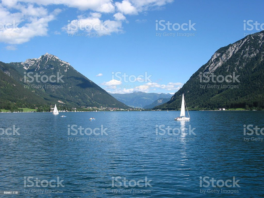 Lake Achensee view toward Pertisau 2 stock photo
