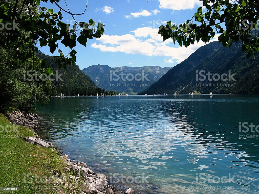 Lake Achensee view toward Pertisau 3 stock photo