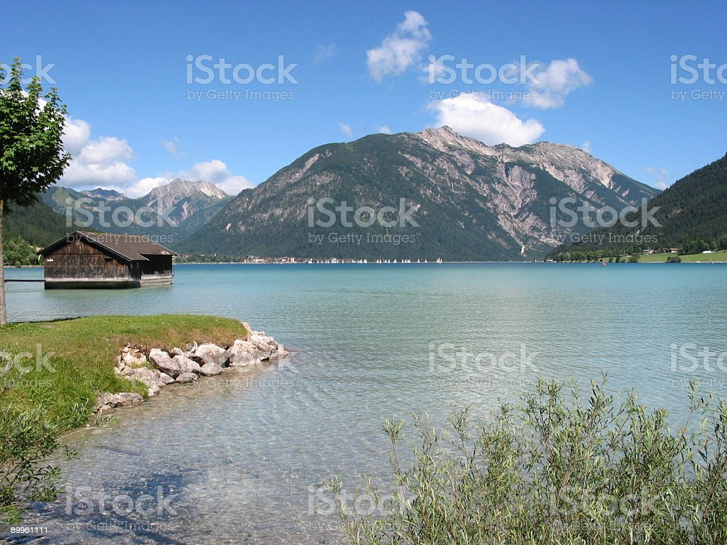 Lake Achensee view toward Pertisau 4 stock photo