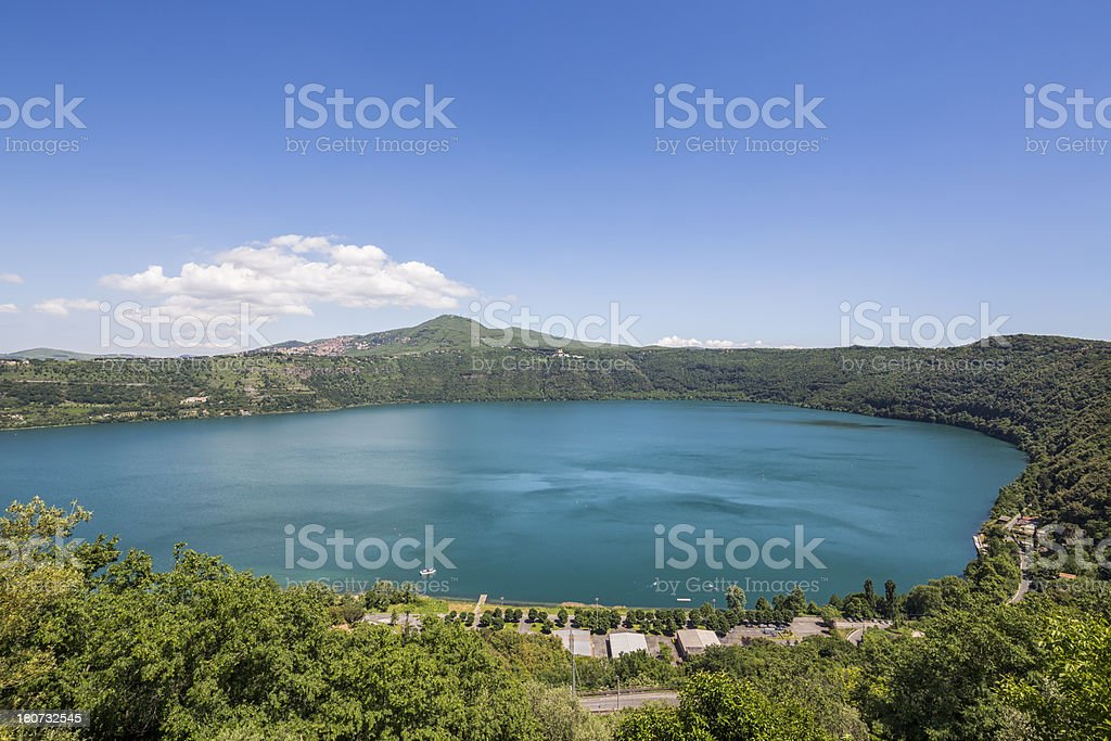 Lake Albano, Castelli Romani Lazio, Italy stock photo