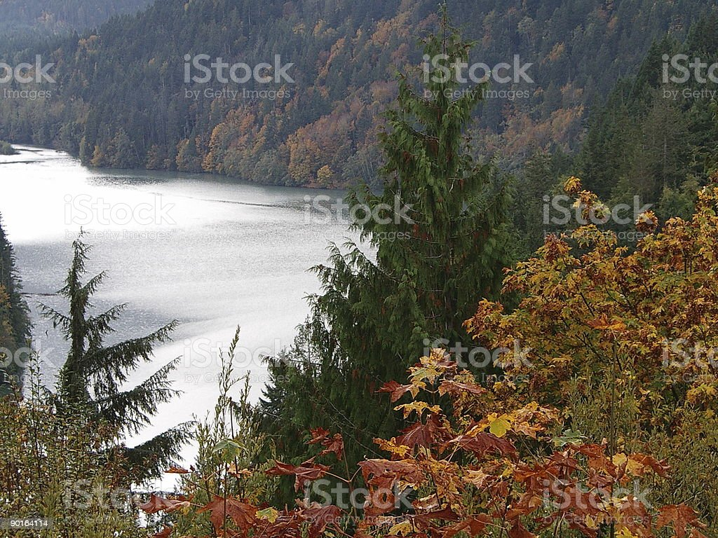 Lake Aldwell royalty-free stock photo