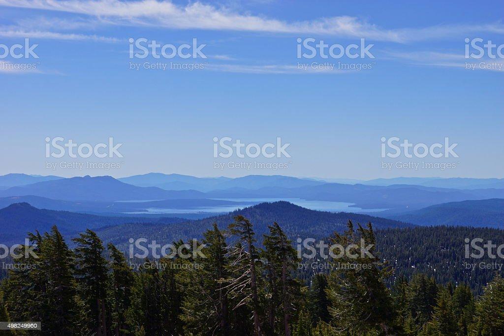 Lake Almanor Vista stock photo