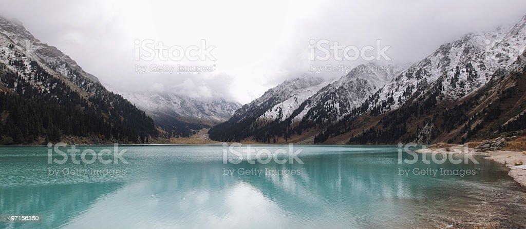 Lake Almaty in Kazakhstan stock photo