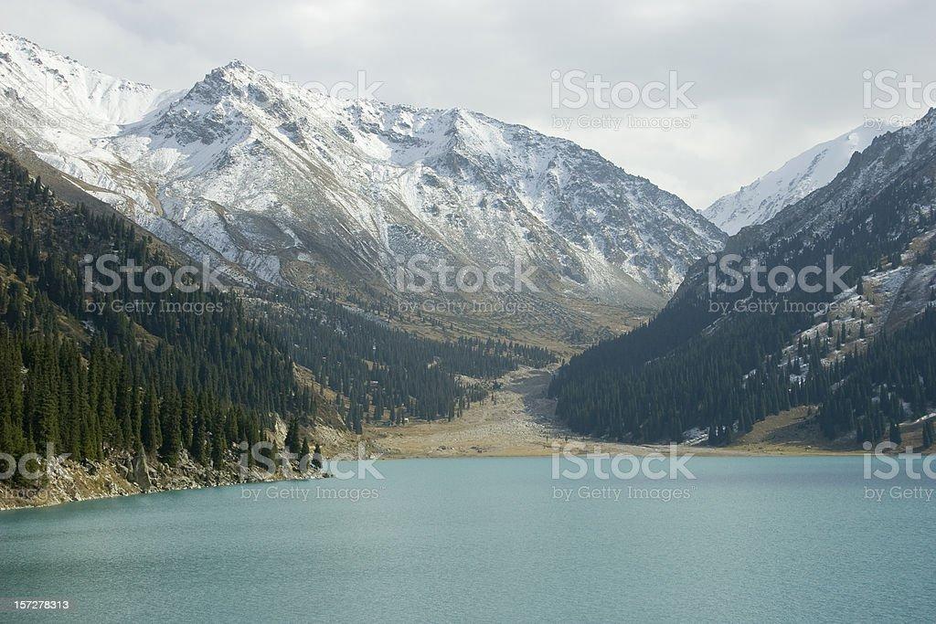 Lake Almaty stock photo