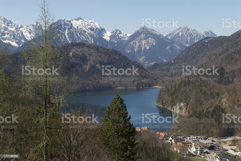Lake Alpsee stock photo