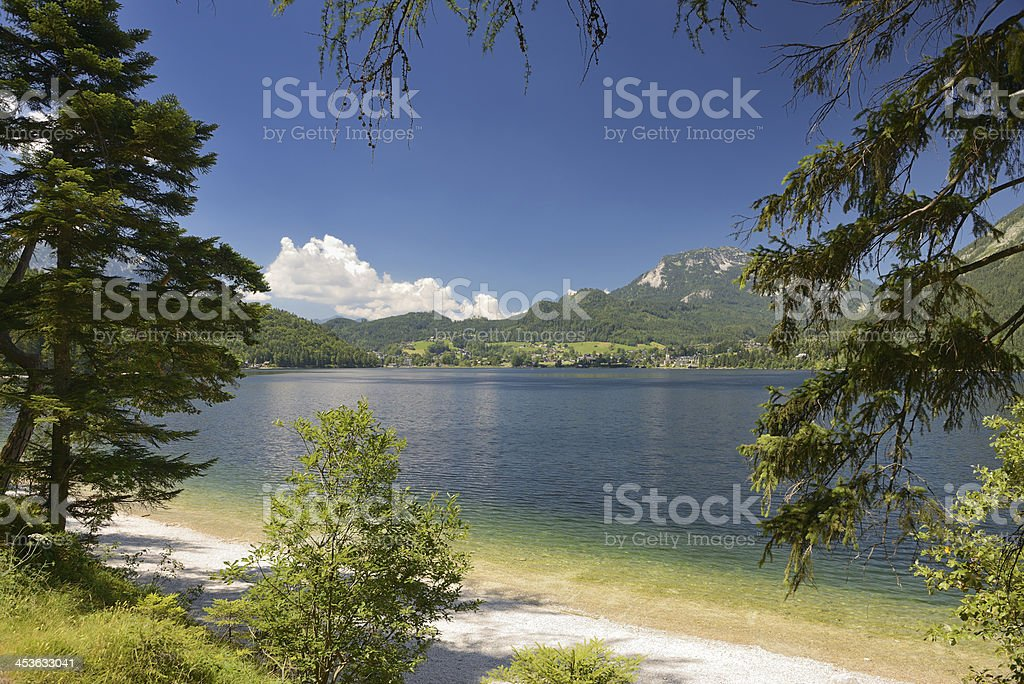 Lake Altaussee, Ausseerland, Salzkammergut, Austria royalty-free stock photo