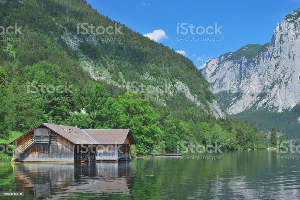 Lake Altausseer See,styrian Salzkammergut,Austria stock photo