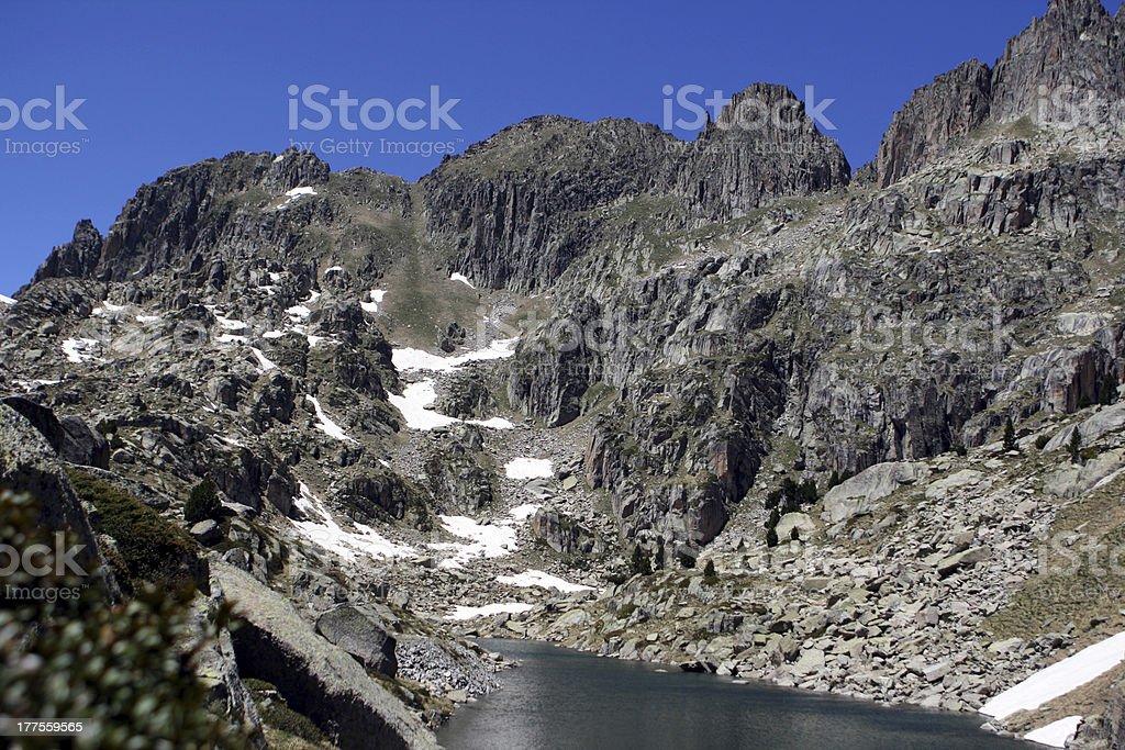 Lake Amitges / Estany d'Amitges royalty-free stock photo