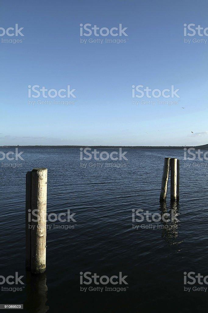 Lake and blue sky stock photo