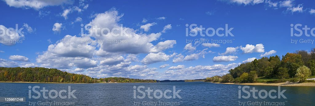 Lake and Clouds stock photo