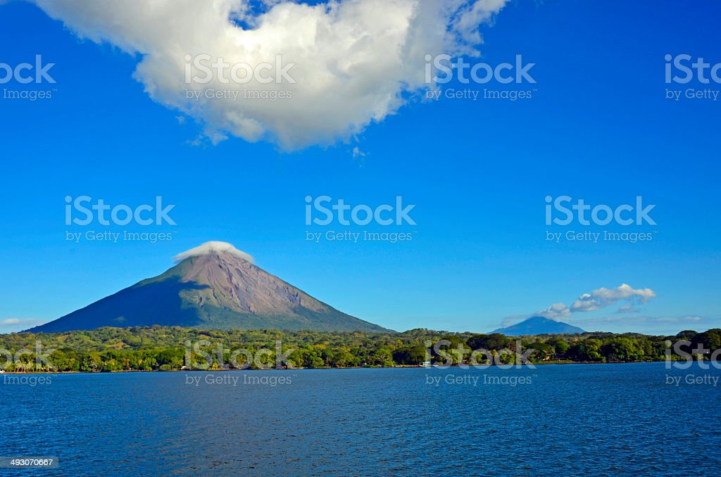 Lake and island Ometepe in Nicaragua stock photo