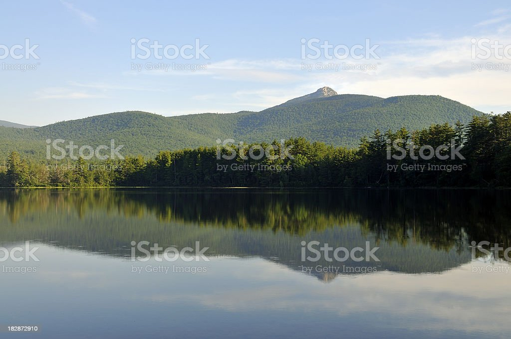 Lake and Mount Chocorua, Tamworth NH stock photo