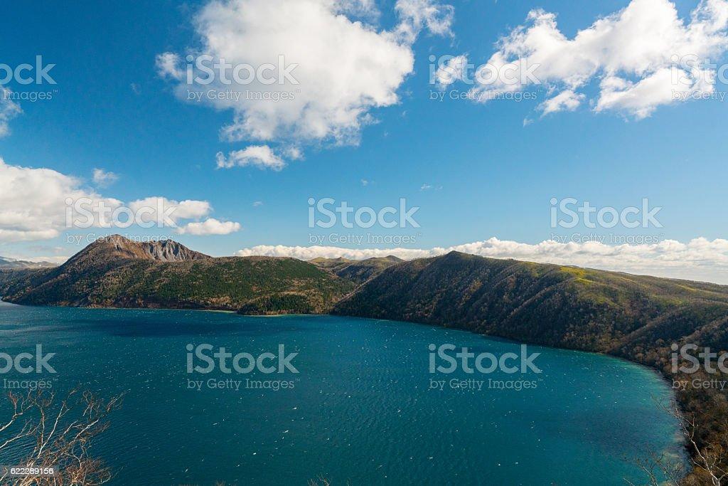 호수와 산 royalty-free 스톡 사진