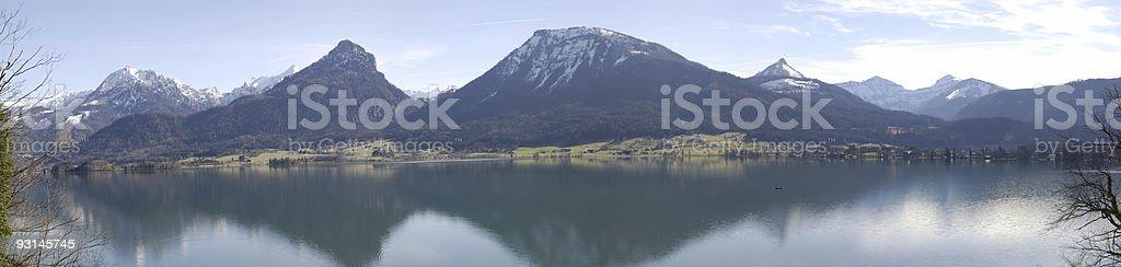lake and mountains in Austria (51 Megapixel) stock photo