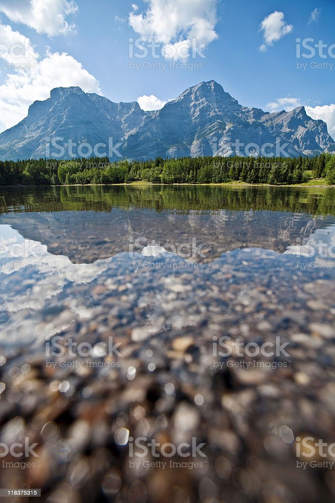 lake and mountains royalty-free stock photo