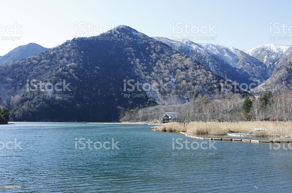 Lake and mountains. royalty-free stock photo