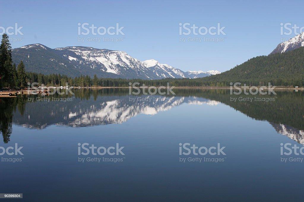 Lake and Mountains Reflection royalty-free stock photo