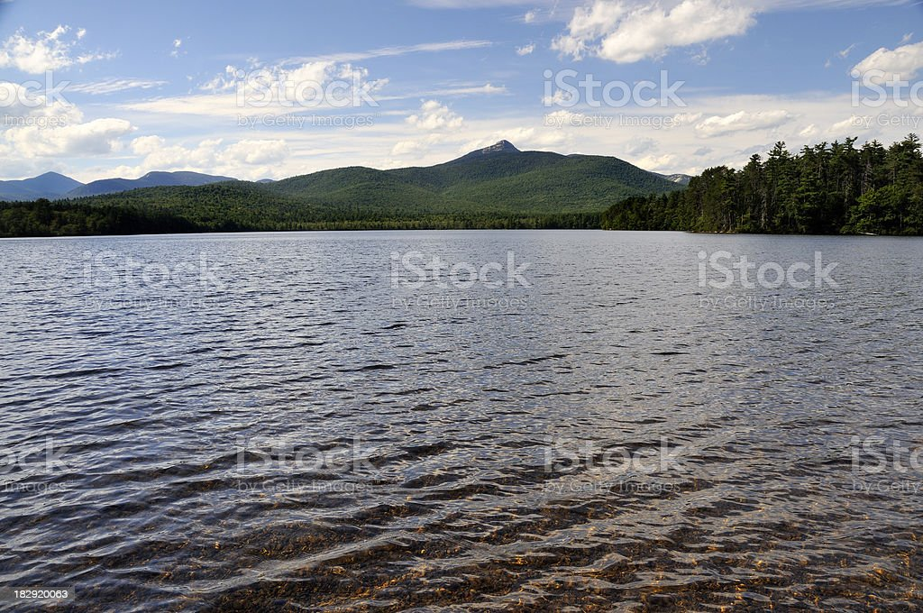 Lake and Mt. Chocorua stock photo