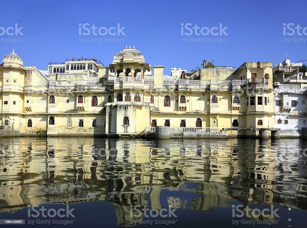 lake and palaces in Udaipur India royalty-free stock photo
