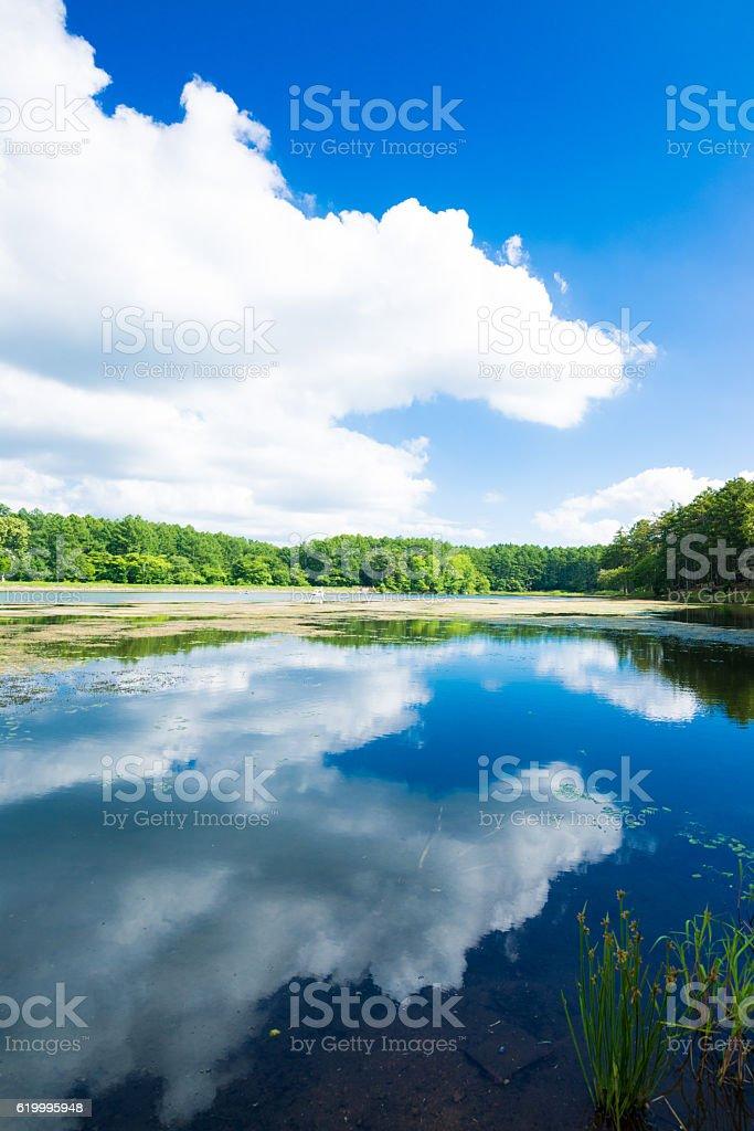 Lago e Céu foto de stock royalty-free