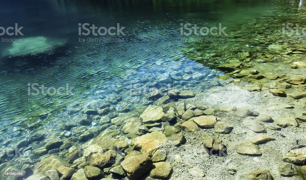 Lake and stones royalty-free stock photo