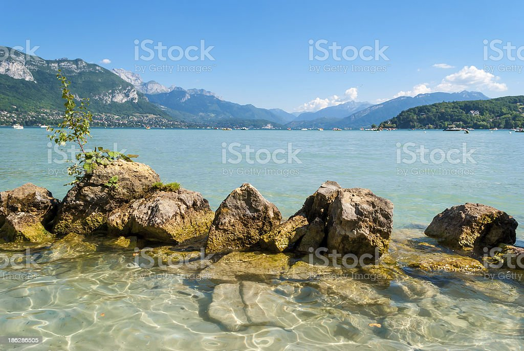 Lake Annecy, France stock photo