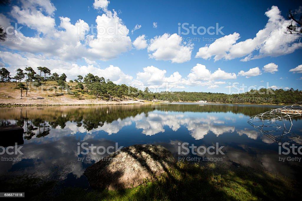 Lake Arareco stock photo